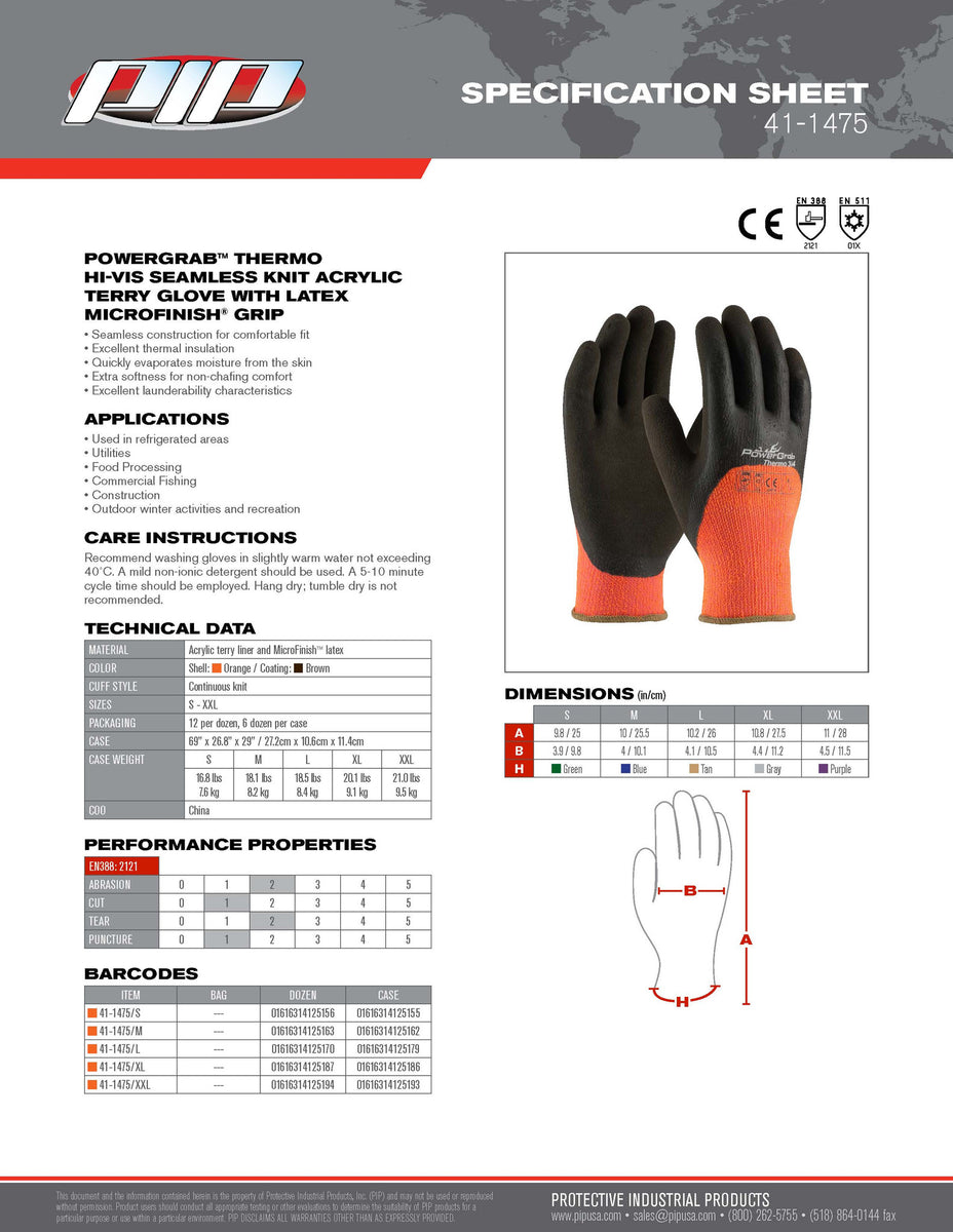 Powergrab 3 4 Dipped Thermal Insulated Cold Condition 41