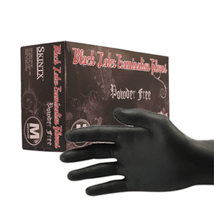 SkinTx Black Latex Exam Gloves By TG Medical, Powder Free, 5.0 Mil- Free Sample