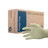 SkinTx Latex Exam Gloves By TG Medical, Powder Free, 5.0 Mil- Free Sample