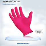 StarMed Rose Nitrile Exam Gloves