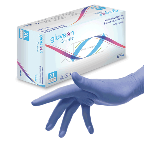 Celeste Nitrile Gloves by Gloveon