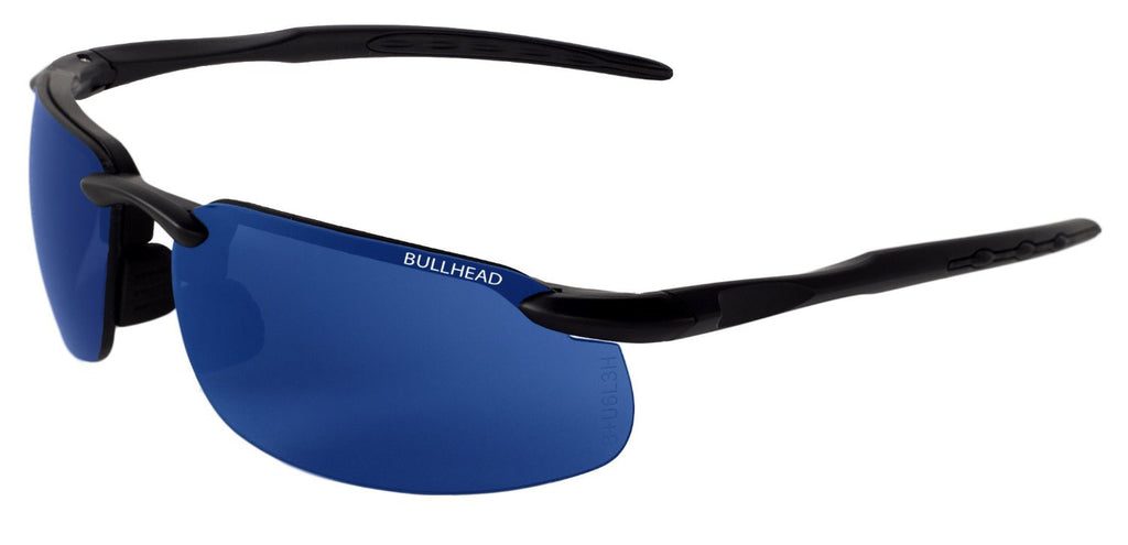 Bull Head Swordfish Polarized Blue Mirror Safety Glasses BH106129