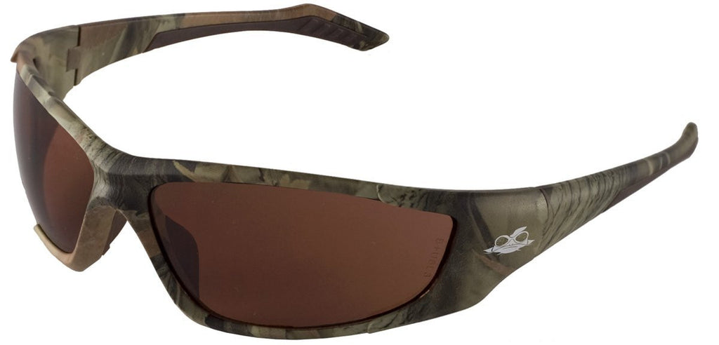 Bullhead Safety® Javelin Safety Glasses with, Camo Frame and Brown ...