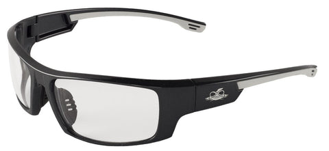 Bullhead Safety Eyewear Dorado BH991AF Pearl Gray Frame Clear Anti-Fog Safety Glasses