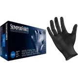 Semperforce black nitrile exam gloves