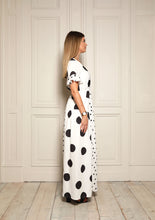 Load image into Gallery viewer, Connie Mixed Polka Dot Dress