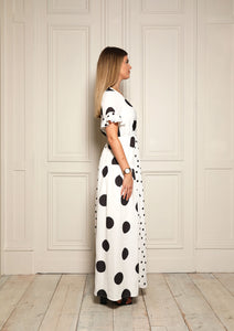 Connie Mixed Polka Dot Dress