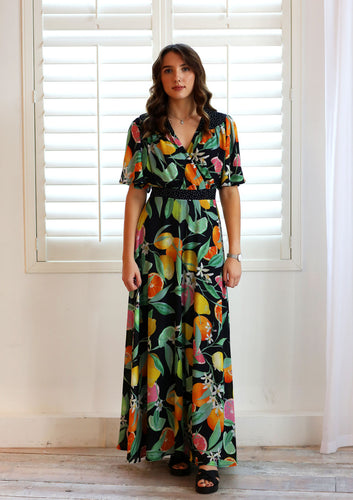 Amy Lemon Print Dress