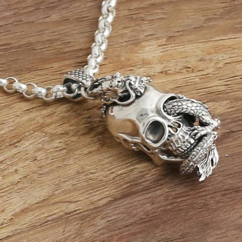 Collier Dragon Skull