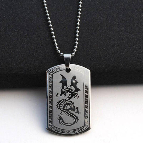 Collier Dragon Militaire