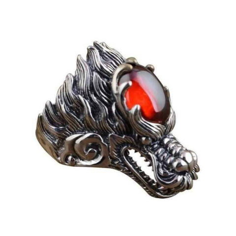 Bague Dragon <br> Motard