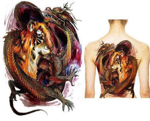 Tatouage Dragon Tigre