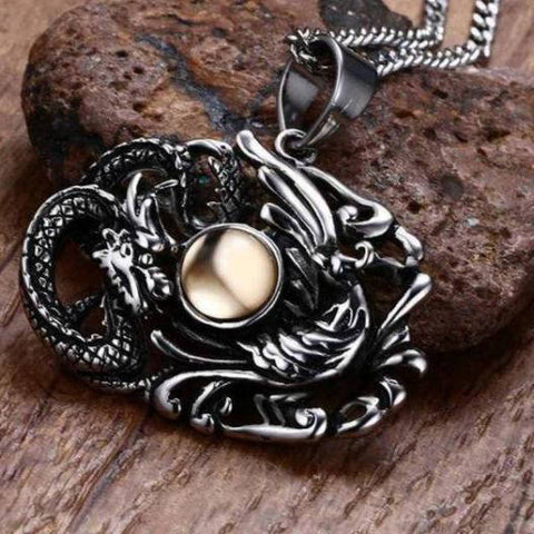 Collier Dragon Vintage