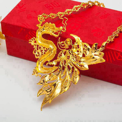 Collier Dragon Féerique