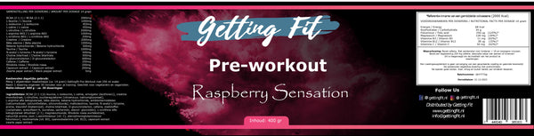 Pre Workout: Raspberry Sensation - Gettingfit