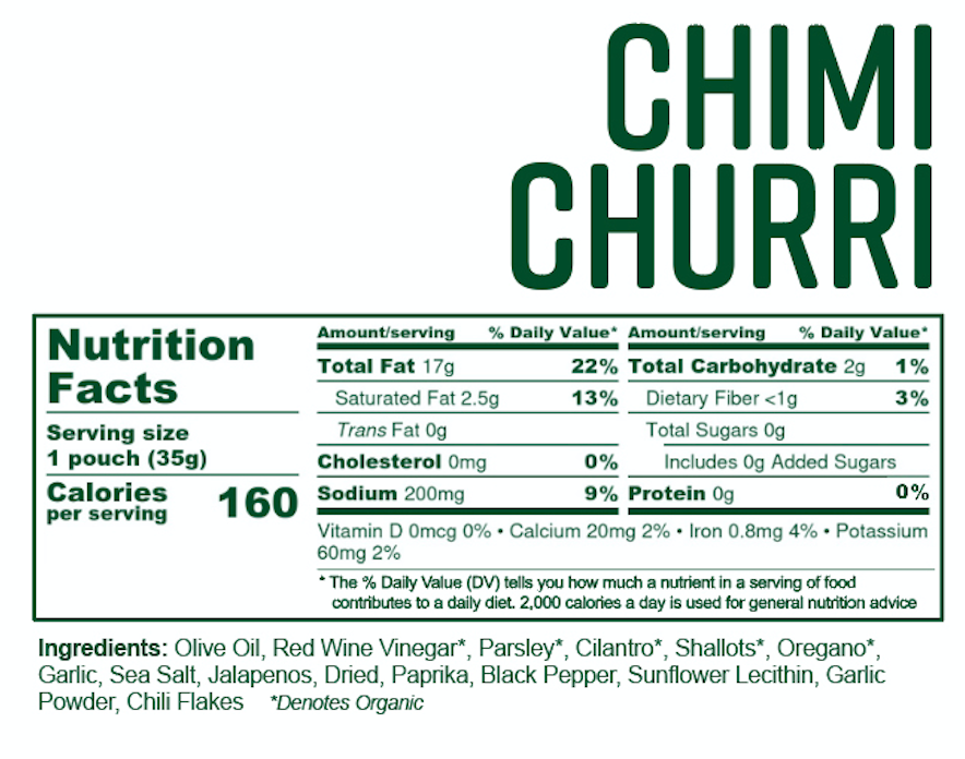Chimichurri, 6 Single-Serve Sauces