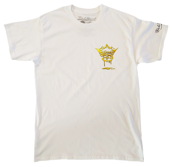 The Gold Dripping Creative Crown Luxury T-Shirt