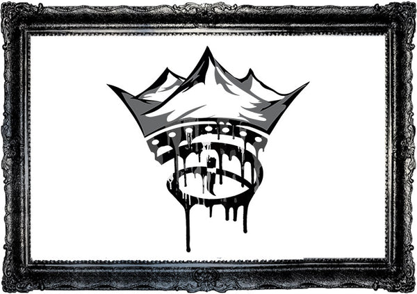 The Dripping Creative Crown Print
