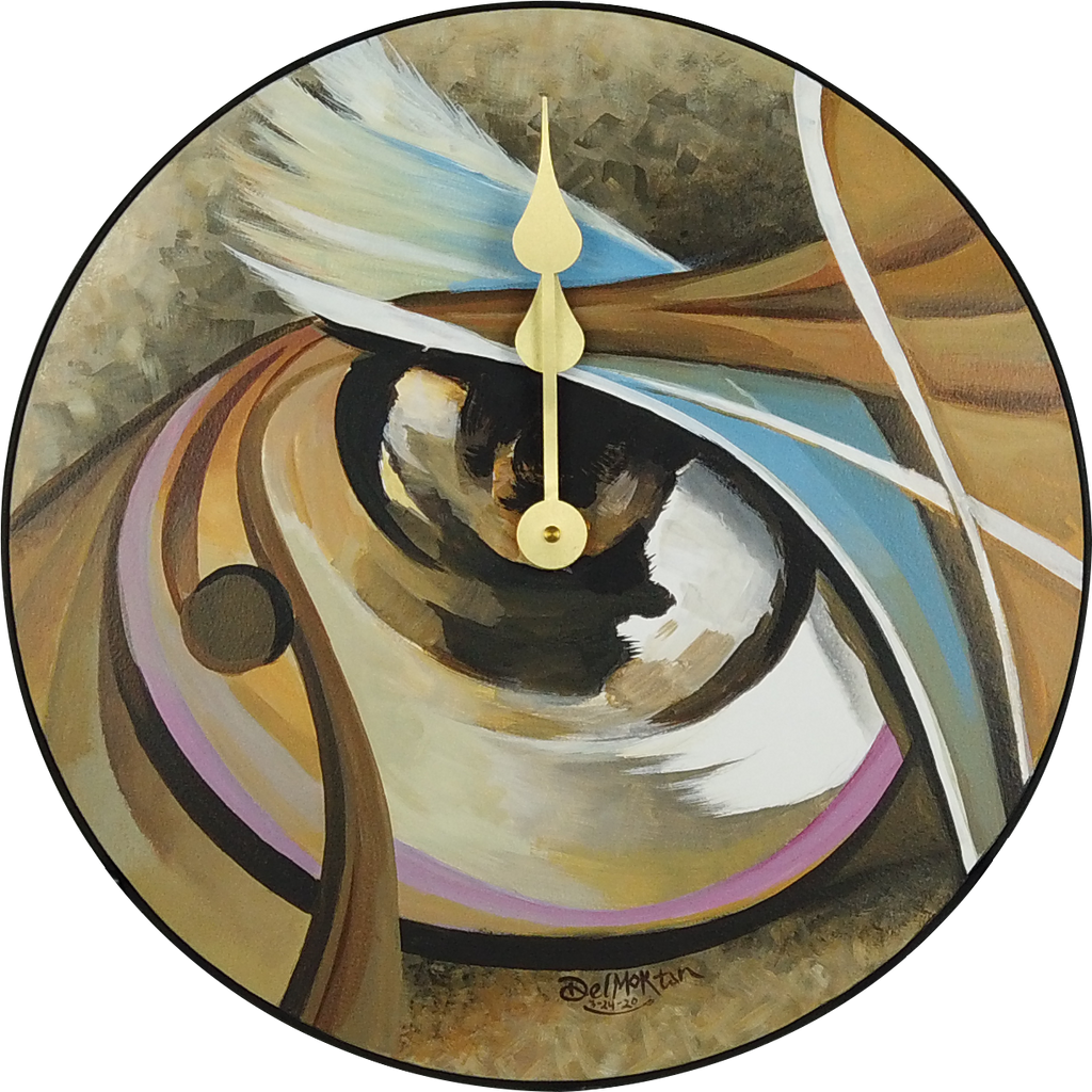 "Abstract Visual Perspective 18"" Round Clock"