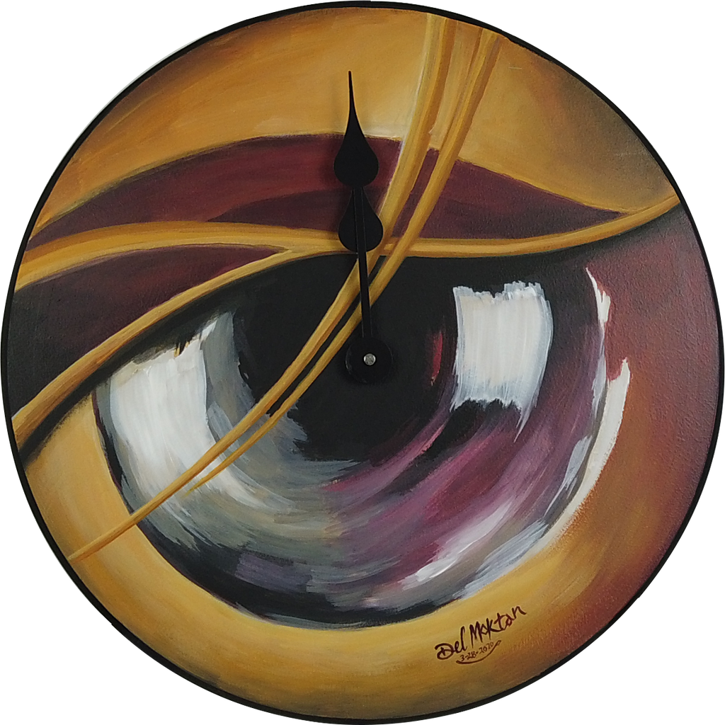 "Visual Perspective Motion 18"" Round Clock"