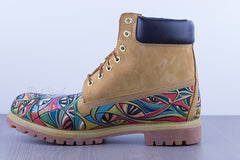 Eyes of Desire Hand Painted Timberland 6-Inch Premium Waterproof Boots