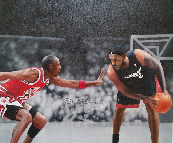 Jordan vs The World Series: Air Jordan vs King James Painting