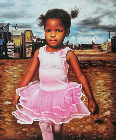 Little Girl, Big Dreams Painting