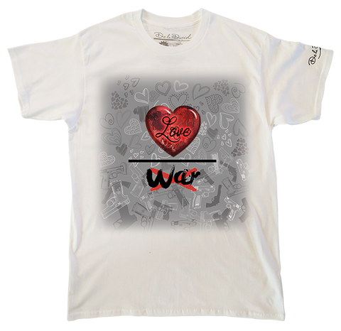 Love Over War Luxury T-Shirt