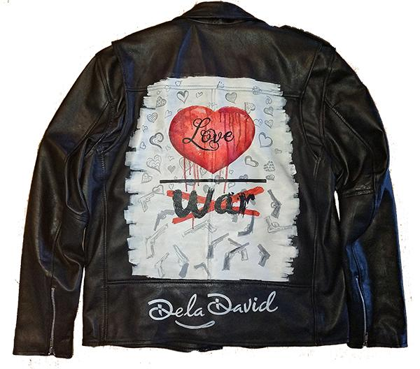 Love over War Lambskin Biker Jacket