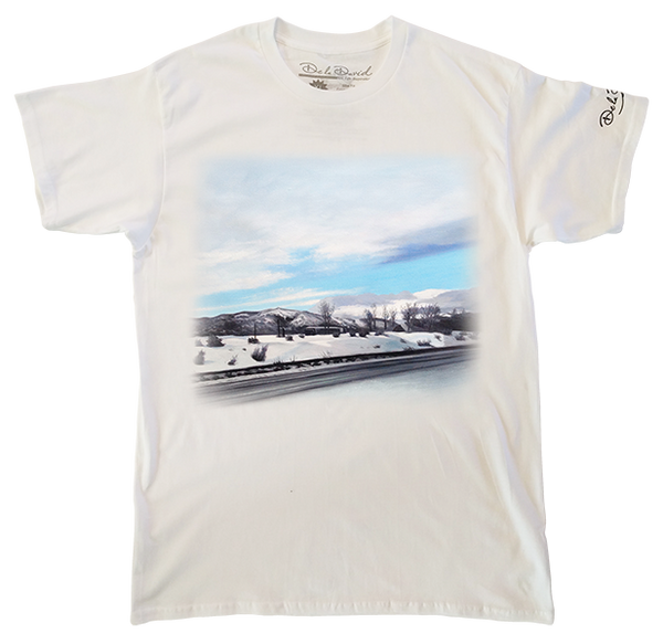 Moving Through A Snowy Paradise Luxury T-Shirt