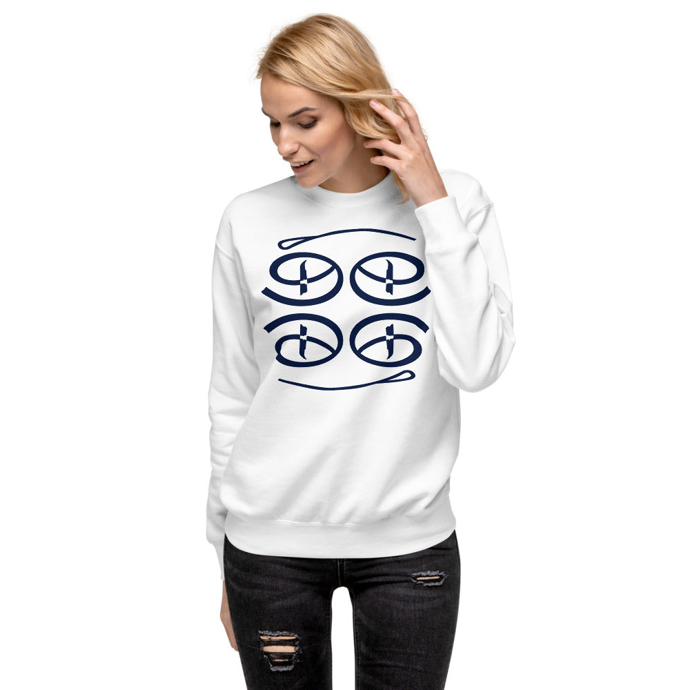 Creative Face Unisex Fleece Pullover | Navy Blue Colorway