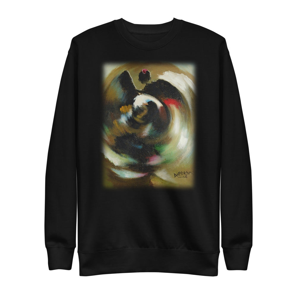 Circular Flow of Motion Unisex Fleece Pullover