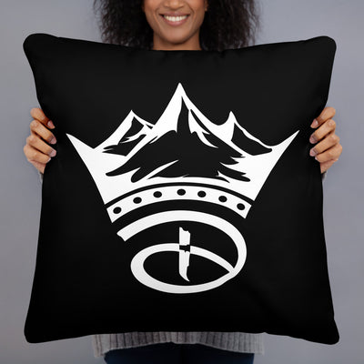 Creative Crown Premium Pillow | Black & White Colorway
