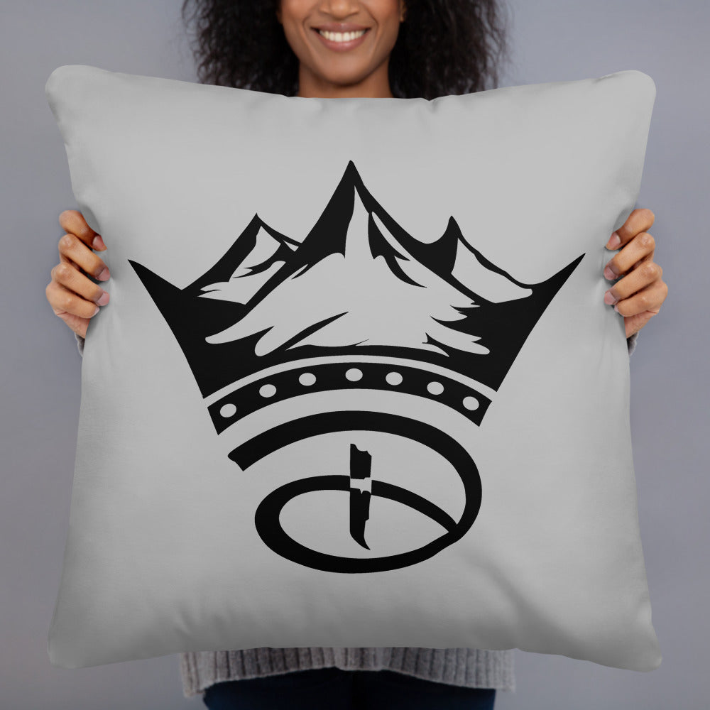 Creative Crown Premium Pillow | Grey & Black Colorway