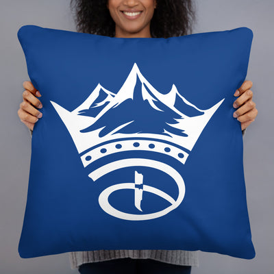 Creative Crown Premium Pillow | Blue & White Colorway
