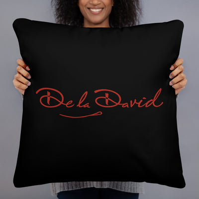 Creative Crown Premium Pillow | Black & Red Colorway