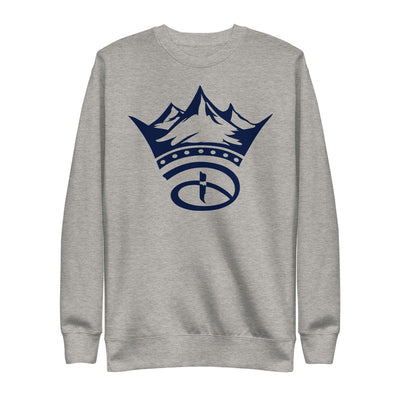 Creative Crown Unisex Fleece Pullover | Navy Blue Colorway