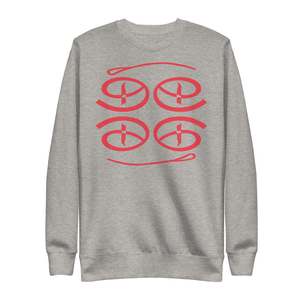 Creative Face Unisex Fleece Pullover | Infrared Colorway
