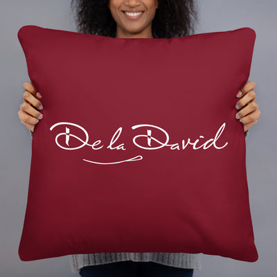 Creative Crown Premium Pillow | Burgundy & White Colorway