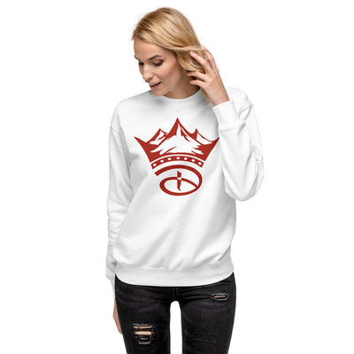 Creative Crown Unisex Fleece Pullover | Red Colorway