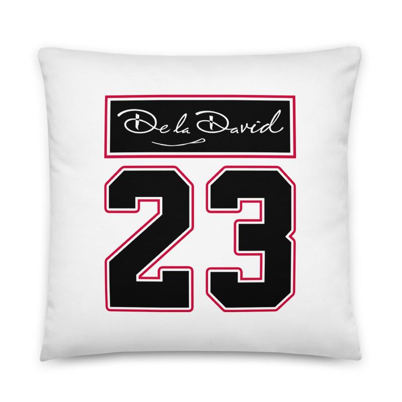GOAT #23 Throw Pillow | White Colorway