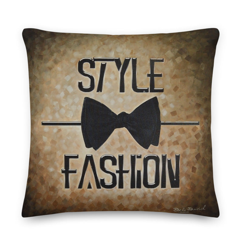 Style (over) Fashion Throw Pillow