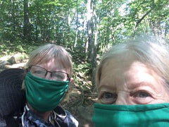 AMC volunteers wearing Burgeon donated masks