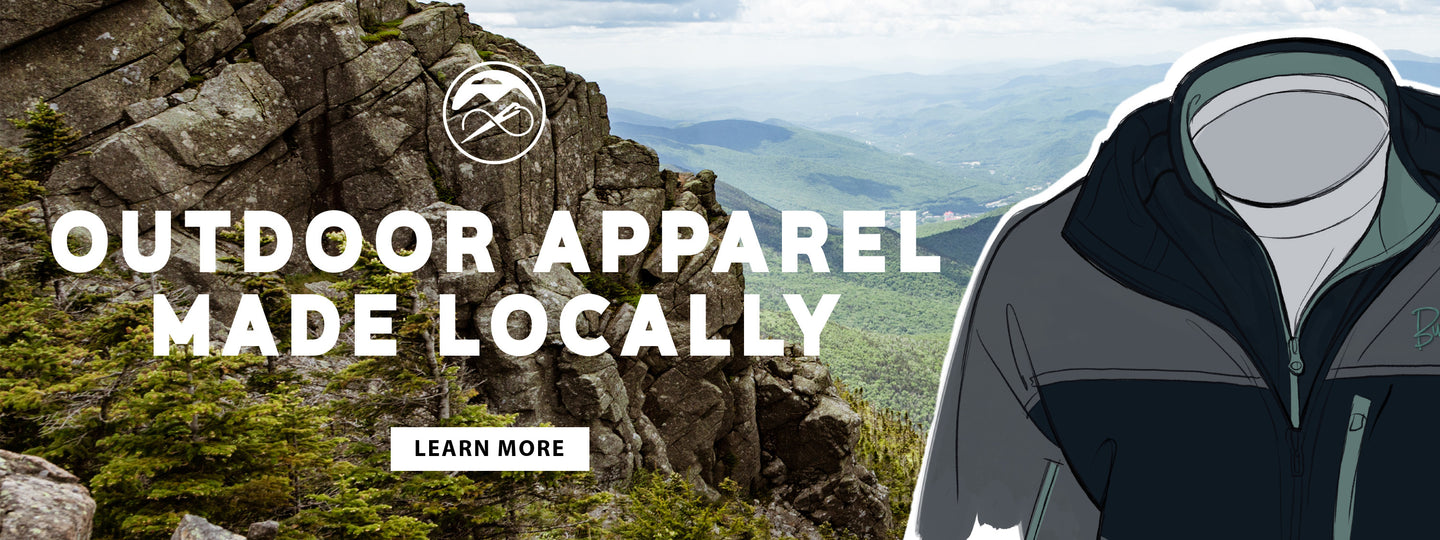 Made in the USA outdoor apparel, White Mountains, New Hampshire