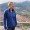 Women's Bond Quarter-Zip in Navy shown on hike in White Mountains of New Hampshire
