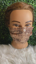 Load and play video in Gallery viewer, Rose Gold Sequin Adjustable Mask