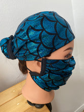 Load image into Gallery viewer, Blue Mermaid Surgical Cap