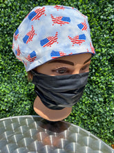 Load image into Gallery viewer, U.S. Flags Surgical Cap