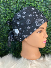 Load image into Gallery viewer, Black Bandana Modern Cap