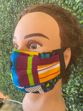 Load image into Gallery viewer, African Print Adjustable Mask